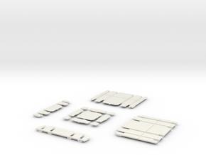 GRAND UNION 1_4 CROSSING in White Natural Versatile Plastic
