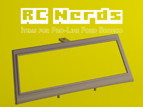 RCN256 Front window frame for PL Bronco 1966 in White Natural Versatile Plastic