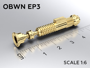 OBWN EP3 keychain in Natural Brass: Medium