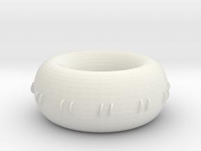 accurate smooth rodin coil donut marko dds generat in White Natural Versatile Plastic