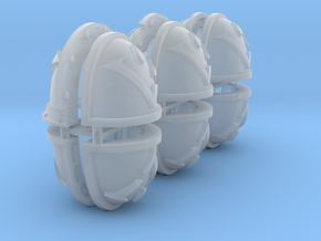 Shoulderpad Pauldrons, Veil Wardens in Smooth Fine Detail Plastic: Small