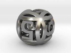 Ball Die in Natural Silver