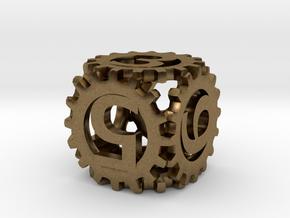 Static Gear Die (D6) in Natural Bronze