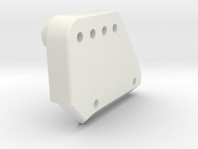 P2 P Rear Shock Hoop in White Natural Versatile Plastic