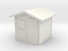 Garden Shed 1/24 in White Natural Versatile Plastic