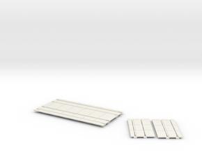 2020 60 deg double intersection PARTS in White Natural Versatile Plastic
