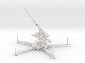 1/56 IJA Type 88 75mm anti-aircraft gun elevated in White Natural Versatile Plastic
