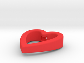 Cord Pull Heart in Red Processed Versatile Plastic