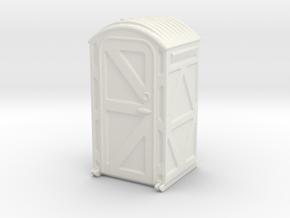 Portable Toilet 1/64 in White Natural Versatile Plastic