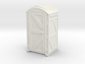 Portable Toilet 1/35 in White Natural Versatile Plastic