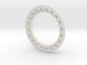 DE FAUX BEADLOCK RING (Single) in White Natural Versatile Plastic