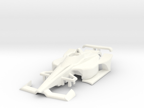 HO 2020 Oval Indy Car in White Processed Versatile Plastic