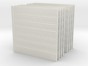 Wooden Fence Panel (x8) 1/56 in White Natural Versatile Plastic