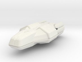 "Valkyrie Class Command Carrier 5.1"" long reworked in White Natural Versatile Plastic"