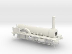 Stephenson LNWR No. 153 1846 in White Natural Versatile Plastic
