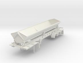000487 Side Dumper 1 40fus 3a HO in White Natural Versatile Plastic: 1:87 - HO