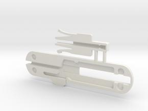 74mm Victorinox pen scale combo in White Natural Versatile Plastic