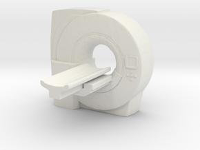 MRI Scan Machine 1/48 in White Natural Versatile Plastic