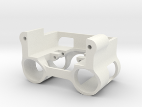 SCX24 Weighted servo mount for dual links in White Natural Versatile Plastic