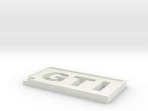GTI Keychain in White Natural Versatile Plastic