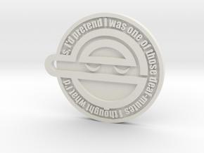laughing man logo v1 in White Natural Versatile Plastic: Small