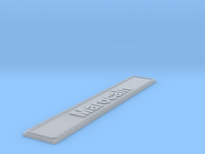 Nameplate Marocain in Smoothest Fine Detail Plastic