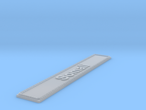 Nameplate Somali in Smoothest Fine Detail Plastic