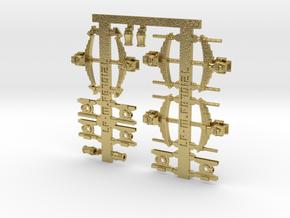 Suspensions et boites essieux pour wagons Etat in Natural Brass