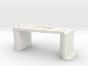 SDR servo mount for Trike 1.0 #SDRT10010 in White Natural Versatile Plastic