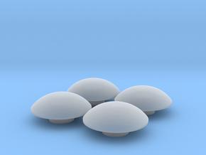 "Moon Caps for Boom Racing 1.55"" Badass Steelies in Smooth Fine Detail Plastic"