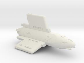 3788 Scale Hydran Pegasus Light Cruiser CVN in White Natural Versatile Plastic