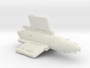 3788 Scale Hydran Pegasus Light Cruiser CVN in White Natural Versatile Plastic