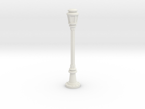 City Lamp Post 1/48 in White Natural Versatile Plastic