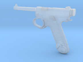1/18 Scale Nambu Pistol in Smooth Fine Detail Plastic
