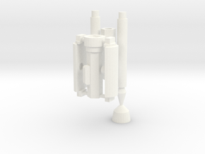 MP-44 Optimus Cybertron Axe pole in White Processed Versatile Plastic