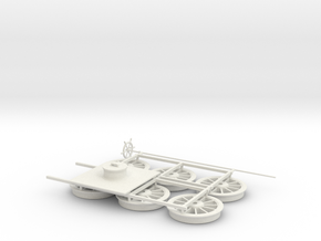 Sphynx Tender Wheel G1 in White Natural Versatile Plastic
