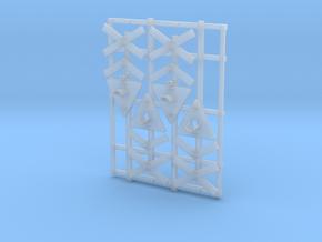 4 vejsignaler for flersporet overkørsel in Smooth Fine Detail Plastic