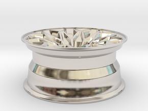 1:10 Display D52 Snowflake Rim in Rhodium Plated Brass