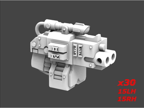 Deathvigil Thunder Bolters Sprue 8 in Smooth Fine Detail Plastic