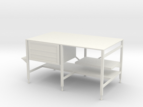 1:24 Welding Table in White Natural Versatile Plastic