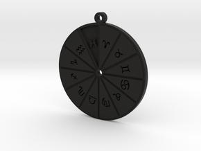 Pisces - Zodiac Pendant in Black Premium Versatile Plastic