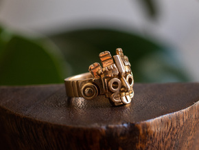 Aztec Ring in Polished Bronze: 8 / 56.75