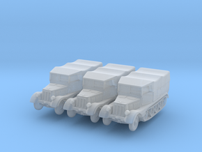 Sdkfz 11 (covered) (x3) 1/220 in Smooth Fine Detail Plastic