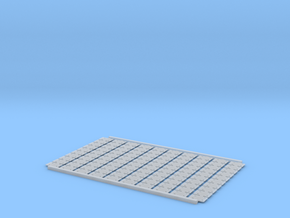 Tie Plates O Scale V3 100ea in Smooth Fine Detail Plastic