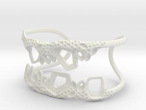 Cosplay Club Cuff - 5cm x 4cm in White Natural Versatile Plastic