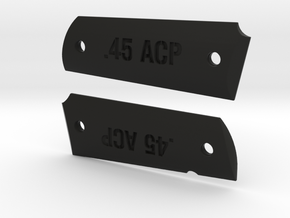 '.45 ACP' 1911 Grips in Black Natural Versatile Plastic