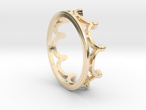 Crown Ring - Minimalist in 14K Yellow Gold: 6 / 51.5