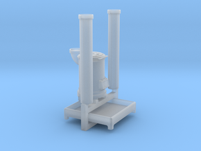 EP730 Cast Iron Stove & flue pipes in Smooth Fine Detail Plastic