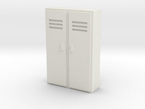 Double Locker 1/64 in White Natural Versatile Plastic