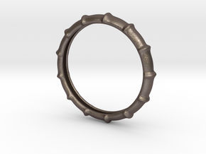 Armring Bones in Polished Bronzed Silver Steel